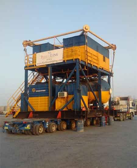 110 TONS DIVING SKID'S LOADING OPERATION ONTO A BARGE264