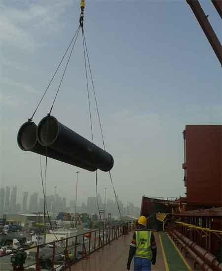 12000 CBM PIPE SHIPMENT HANDLED ON A DOOR TO DOOR BASIS
