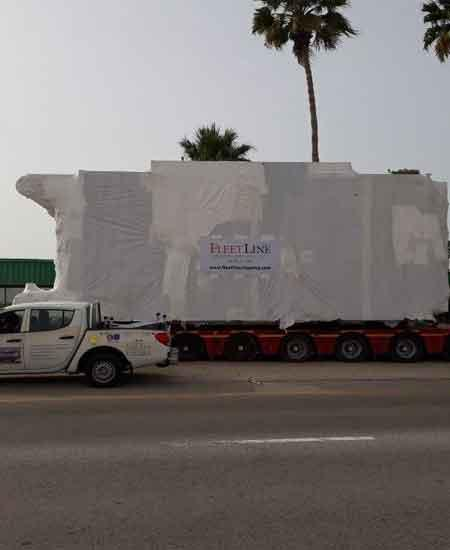 80 Ton shipment from Abu Dhabi to Iraq door delevery