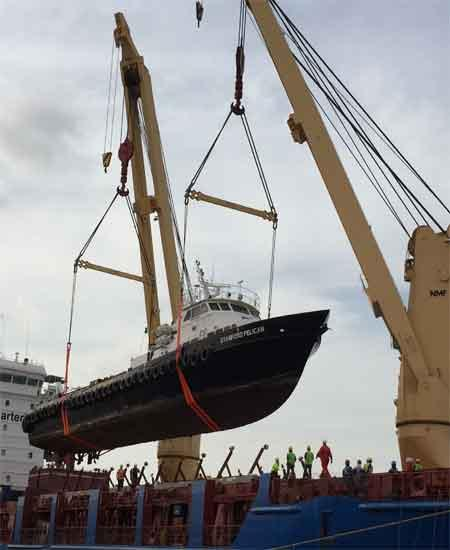 180 TONS SUPPLY BOAT LOADED FROM DUBAI TO NIGERIA